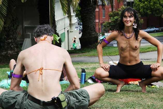 Go Topless Day in Dolores Park (NSFW)