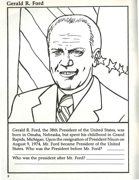 coloring pages of gerald ford - photo#8