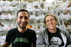 MIKE KOOMIN - Good Eggs co-founders Rob Spiro and Alon Salant.