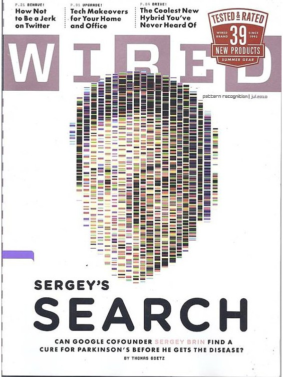 Google co-founder Sergey Brin on the cover of the July 2010 issue of Wired Magazine