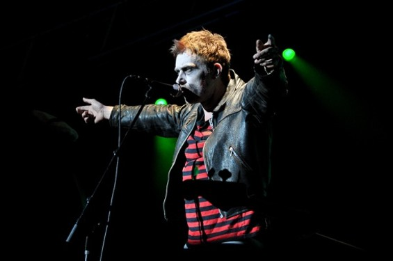 Gorillaz' Damon Albarn went as a crazed zombie rockstar for Halloween - CHRISTOPHER VICTORIO