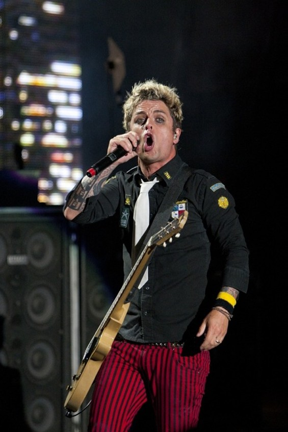 Green Day's Billie Joe Armstrong, in better-belted times. - CHRISTOPHER VICTORIO