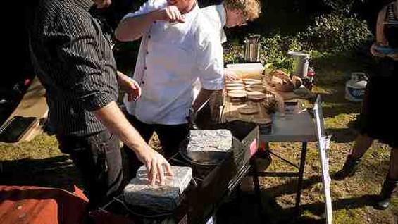Grilled Cheez Guy puts a brick on it. - FLICKR/ROB VILLANEUVA