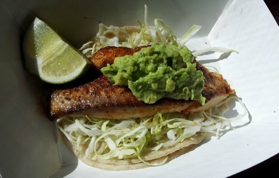 Grilled fish taco at Garaje. - PETE KANE