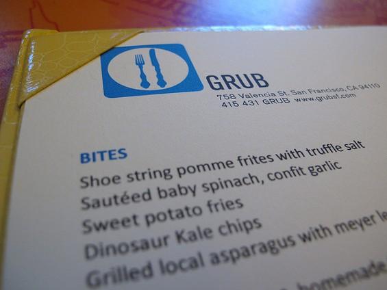 Grub's menu, minus the hate. - EDEN HENSLEY SILVERSTEIN/FLICKR