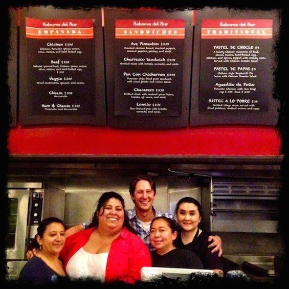 Guisell Osorio with her La Cocina family.