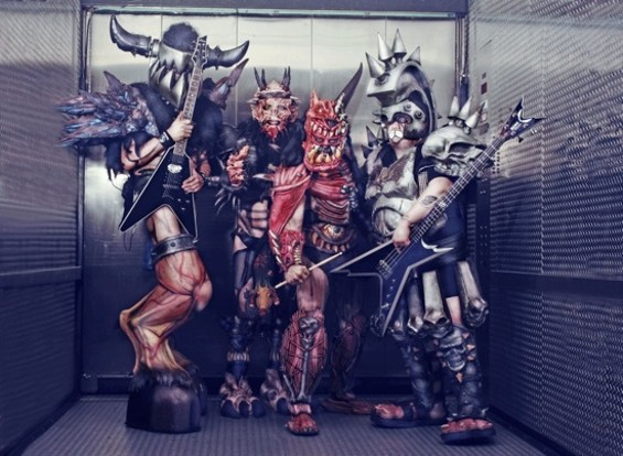 GWAR, with Oderus second from left.