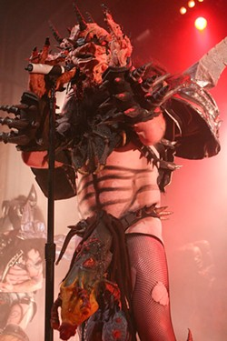 CHRISTOPHER VICTORIO - Gwar's Oderus loves to snack on crack.