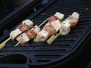 Halloumi skewers. - T. PALMER