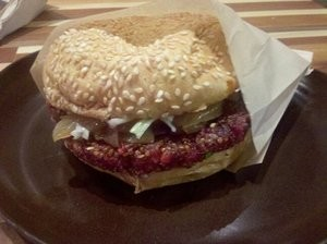 Hands off, meat-mouths: Roam's Veggie Burger. - PATTY P./YELP
