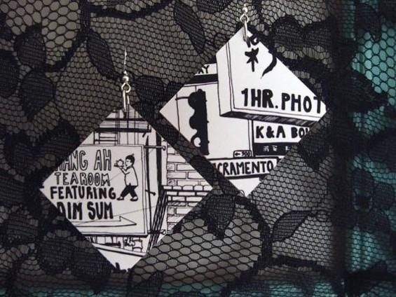Hang Ah Tea Room earrings. - CHANTAL DEFELICE
