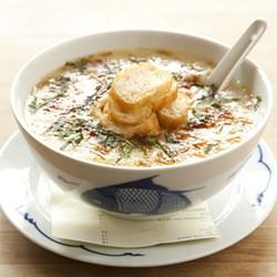 MELISSA BARNES - Hangover cure, Vietnamese style: A bowl of rice porridge for brunch.