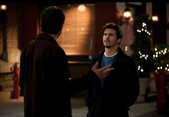 Hank and Mark have a showdown over Sarah's affections. - PHOTO COURTESY OF NBC.COM.