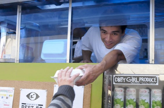 Hapa SF's William Pilz at a recent Off the Grid street-food event. - CHRIS MACARTHUR/SF WEEKLY