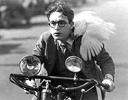 COPY;THE HAROLD LLOYD TRUST - Harold Lloyd puts up a good chase in Girl Shy, - part of the San Francisco Silent Film Festival.