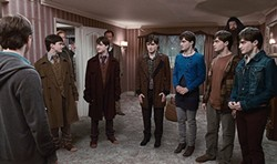 Harry's friends transform into identical decoys to confuse the bad guys.