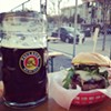 Have a Burger at Biergarten Tonight