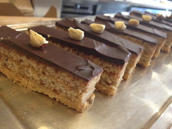 Hazelnut, Seville orange, and chocolate torte by 20th Century Cafe. - TAMARA PALMER