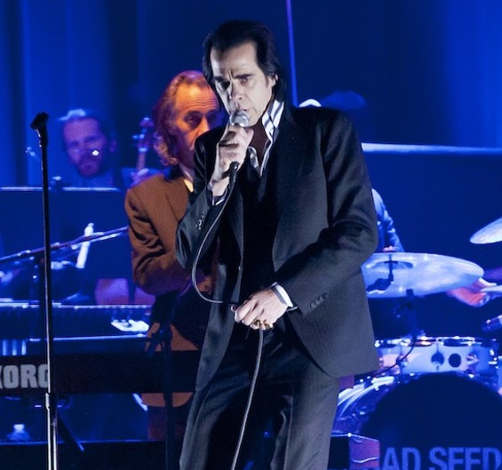 He knows who U R: Nick Cave at Bill Graham Civic last night. - CHRISTOPHER VICTORIO