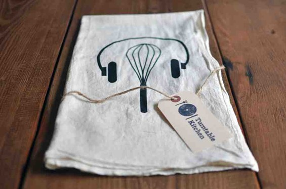 Headphones and whisk tea towel by Turntable Kitchen. - TURNTABLE KITCHEN