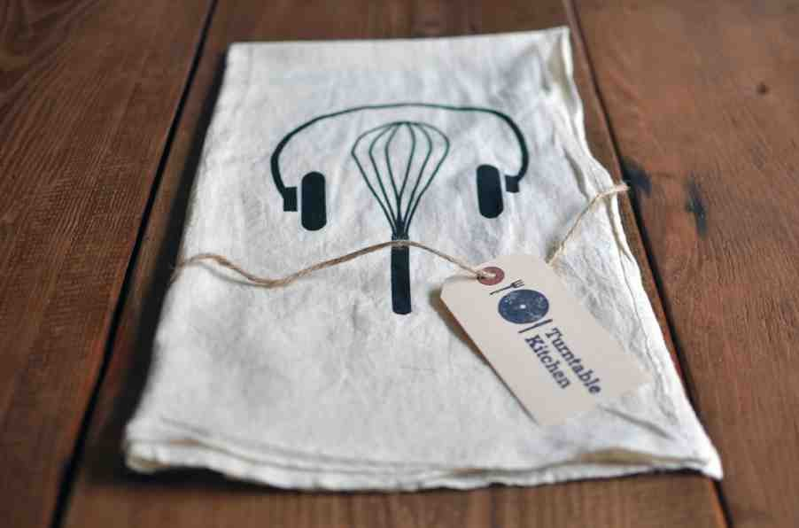 click to enlarge headphones and whisk tea towel by turntable kitchen turntable kitchen - Turntable Kitchen