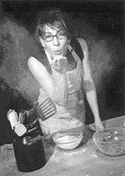 Heather Gold playing with her favorite white powder.