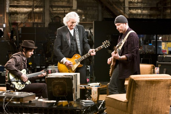 Heroic Trio: Jack White, Jimmy Page, and the Edge