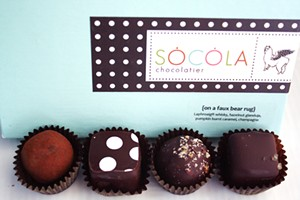 Holiday truffle collection from Socola. - LICK MY SPOON