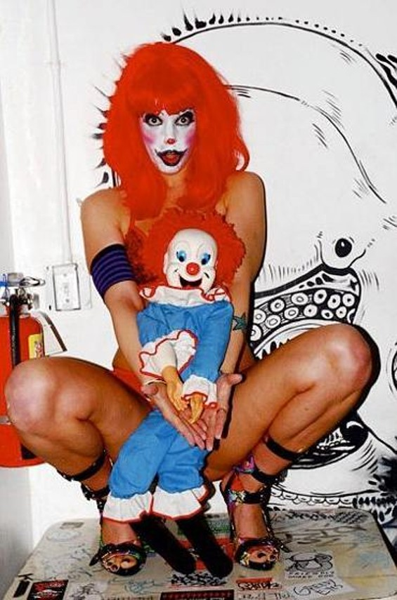 Hollie Stevens in one of her clown roles