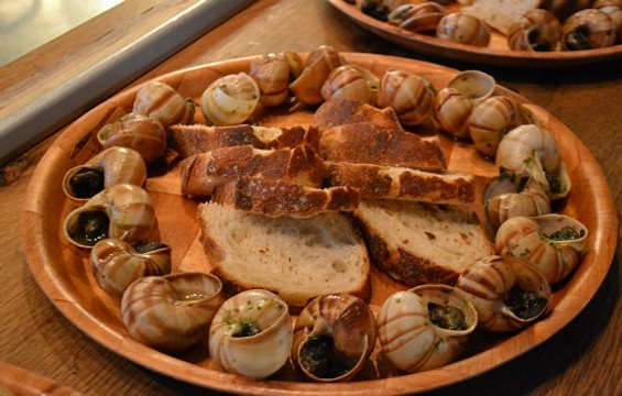 Honeyed snails at a recent Guild of Cookery event. - DIEGO GARCIA