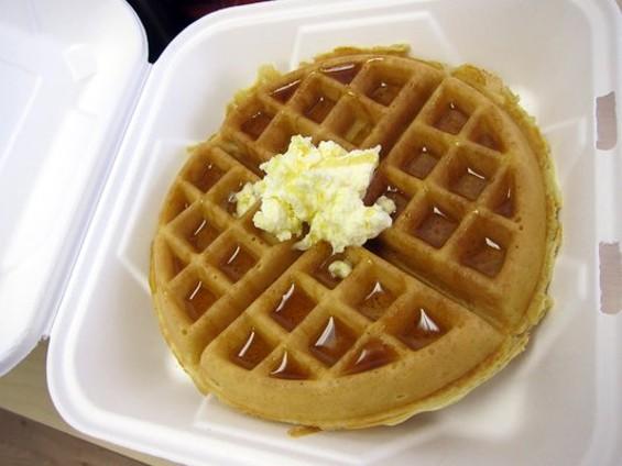 Hot Sauce and Panko's Belgian waffle. - YELP/LUIS C.