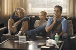 MELISSA  MOSELEY - Houseguest From Hell: Randy Dupree (Owen Wilson) horns in on Molly -  - (Kate Hudson) and Carl Peterson (Matt Dillon).