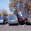 Callous Woman Hits Parked Car, Then Hails a Cab