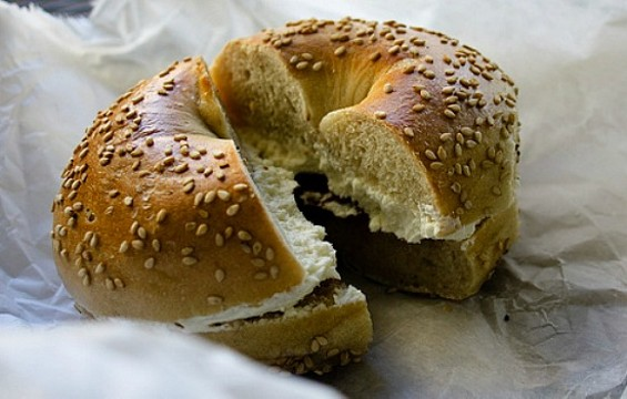 How long would you wait for a bagel and cream cheese? - FLICKR/TZARANITA