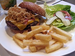 LOU BUSTAMANTE - Howdy, pardner: The Cowboy Steakburger at Lark Creek Steak.