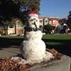 Huge Icy Snowman Makes a Cameo in Precita Park