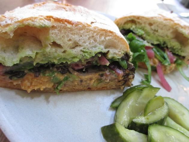 Salumeria's Hummus Sandwich - TREVOR FELCH