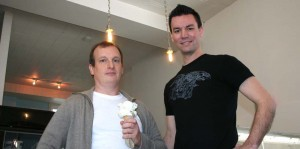 Humphry Slocombe's Jake Godby (left) with chief tweeter Sean Vahey. - MISSIONLOCAL.ORG