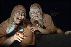 DAVIDALLENSTUDIO.COM - Hunchback (Eric Tyson Wertz) and the Normandy Woman (The Indra) in The Old Women.