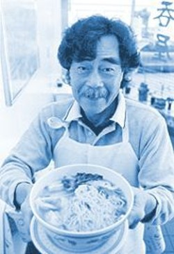 ANTHONY  PIDGEON - Hunker Down and Slurp: Chef/owner Howard Ho presents his signature dish.