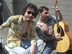 Hunter Stair (as Kenny Loggins) and Lane Farnham (Jim Messina).