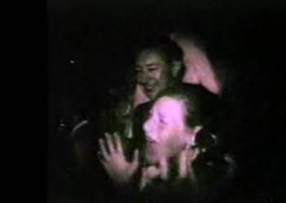 Hysterical Beatles fan at the Cow Palace in 1964