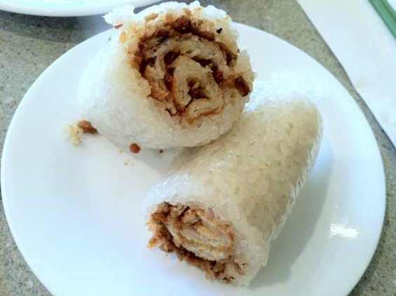 Ice House's savory fan tuan, or rice roll. - JONATHAN KAUFFMAN