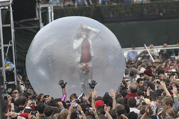 If Wayne Coyne could spend time in a bubble... - CHRISTOPHER VICTORIO