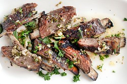 LARA HATA - If you look at the meat on these lamb riblets, it will fall off the bone.