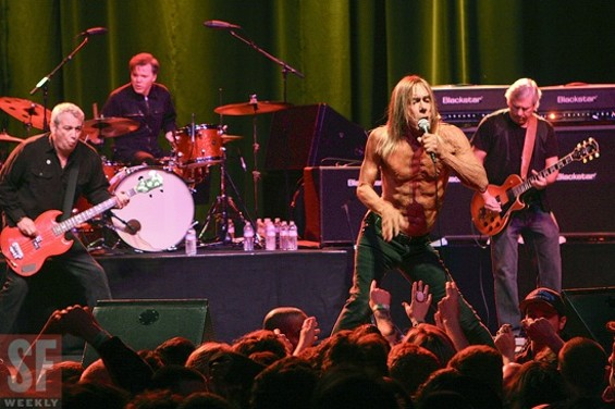 Iggy and the Stooges at the Warfield on Sunday.