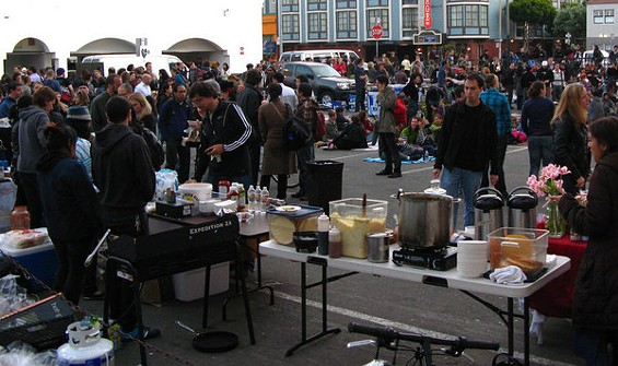 In Oakland, expect a scene like this one from an earlier SF Underground Market. - SLOWPOKE_SF/FLICKR