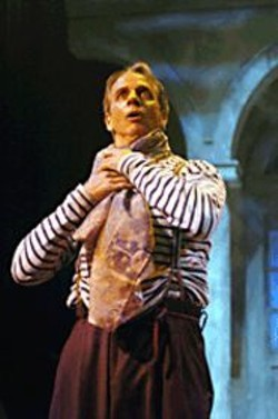 DAVID  ALLEN - In The Thousandth Night, Ron - Campbell plays as many as eight characters - at once.