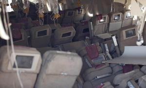 Inside Asiana aircraft after the crash - TWITTER/NTSB