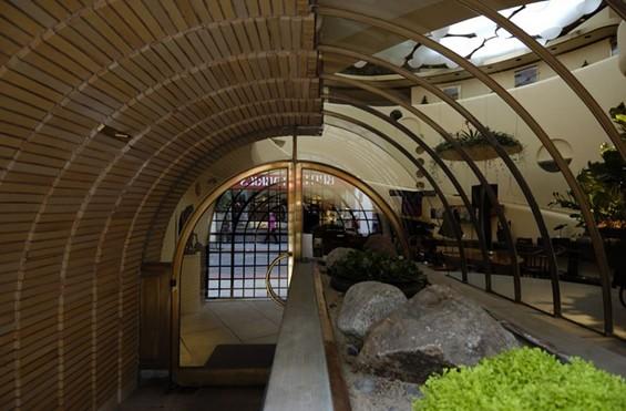 Inside the entrance hallway.